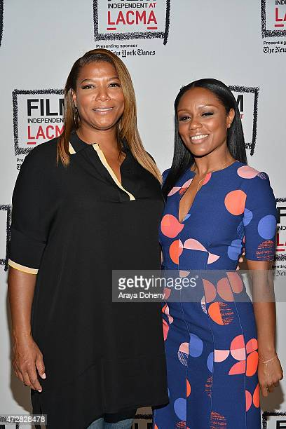 "Queen Latifah and Eboni Nichols attend the Film Independent at LACMA special screening of ""Bessie"" at LACMA on May 9, 2015 in Los Angeles, California."