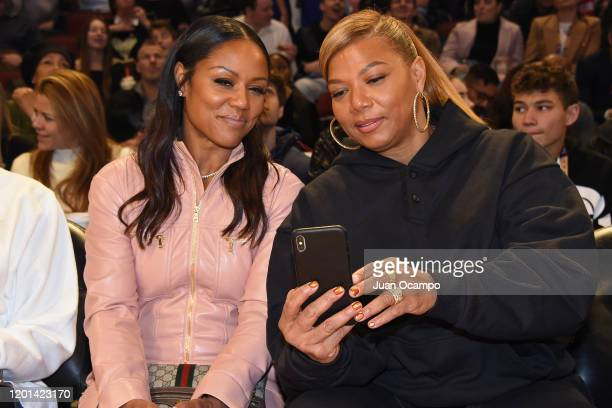 Queen Latifah and Eboni Nichols take a selfie during the 69th NBA All-Star Game as part of 2020 NBA All-Star Weekend on February 16, 2020 at United...