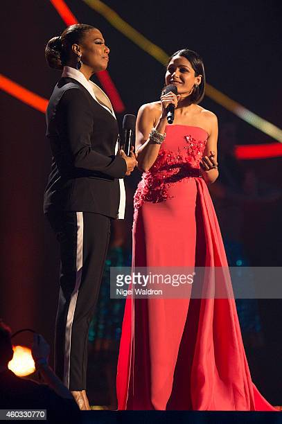 Queen Latifah and Freida Pinto at the Nobel Peace Prize concert at Oslo Spektrum on December 11 2014 in Oslo Norway The Nobel Peace Concert is hosted...