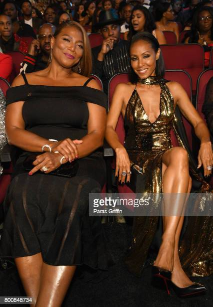 Queen Latifah and Jada Pinkett Smith at 2017 BET Awards at Microsoft Theater on June 25 2017 in Los Angeles California