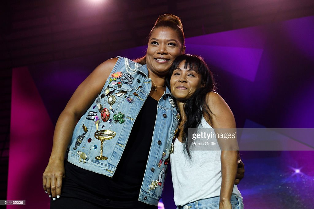 Queen Latifah and Jada Pinkett Smith onstage at the 2016 ESSENCE Festival Presented By Coca-Cola at Ernest N. Morial Convention Center on July 3, 2016 in New Orleans, Louisiana.