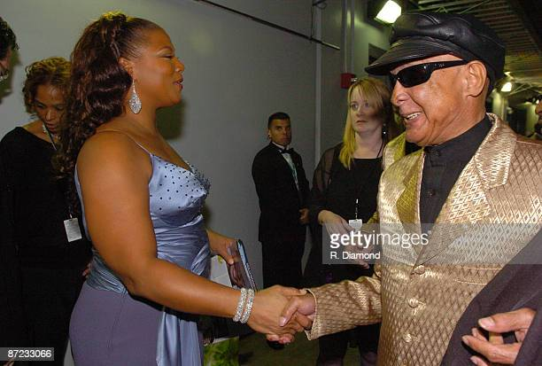 Queen Latifah and Jimmy Carter of the Blind Boys of Alabama Photo by R Diamond/WireImage for The Recording Academy