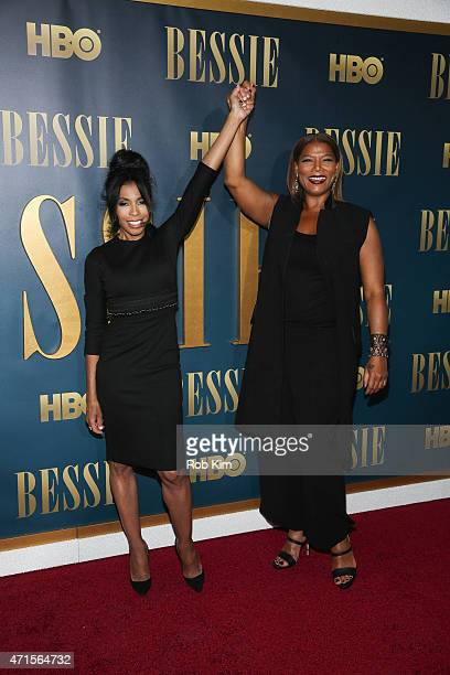 Queen Latifah and Khandi Alexander attend the Bessie New York screening at The Museum of Modern Art on April 29 2015 in New York City