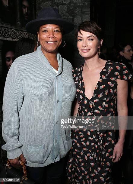 Queen Latifah and Lena Headey attend the after party for the premiere Of HBO's Game Of Thrones Season 6 at the Roosevelt Hotel on April 10 2016 in...
