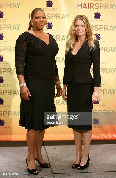 Queen Latifah and Michelle Pfeiffer during ShoWest 2007 New Line 'Hairspray' Presentation Photocall at Paris Hotel and Casino in Las Vegas Nevada...