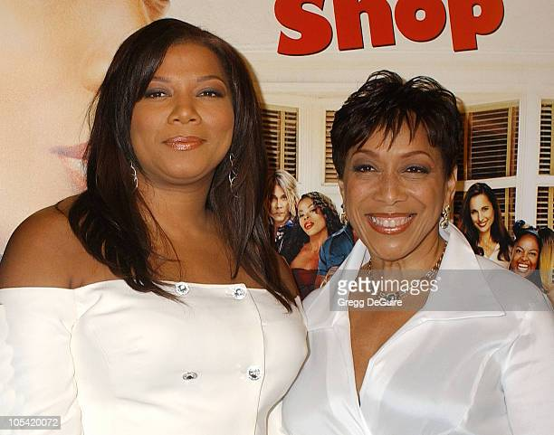 Queen Latifah and mother during Beauty Shop World Premiere Arrivals at Mann National Premiere in Westwood California United States