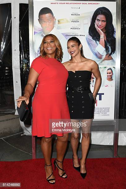 Queen Latifah and Paula Patton attend the premiere of Lionsgate's 'The Perfect Match' > at ArcLight Hollywood on March 7, 2016 in Hollywood,...