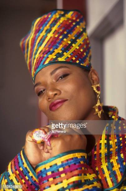 """Queen Latifah appears in a portrait taken backstage during Queen Latifah's video shoot for """"Fly Girl"""" on June 28, 1991 in New York City. ."""