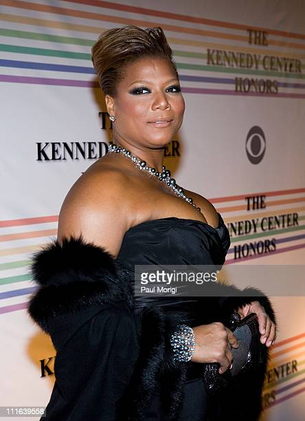 Queen Latifah arrives at the 31st Annual Kennedy Center Honors at the Hall of States inside the John F Kennedy Center for the Performing Arts on...