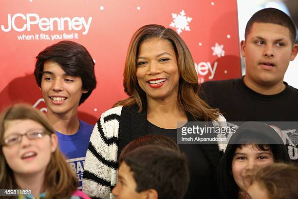 Queen Latifah at JCPenney Holiday Event with the Boys Girls Club at Glendale Galleria on December 1 2014 in Glendale California