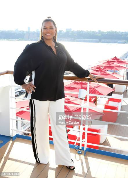 Queen Latifah attends Carnival Horizon naming ceremony event at Pier 88 on May 23 2018 in New York City