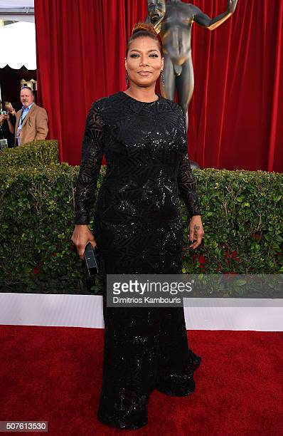 Queen Latifah attends The 22nd Annual Screen Actors Guild Awards at The Shrine Auditorium on January 30 2016 in Los Angeles California 25650_013
