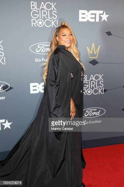 Queen Latifah attends the Black Girls Rock 2018 Red Carpet at New Jersey Performing Arts Center on August 26 2018 in Newark New Jersey