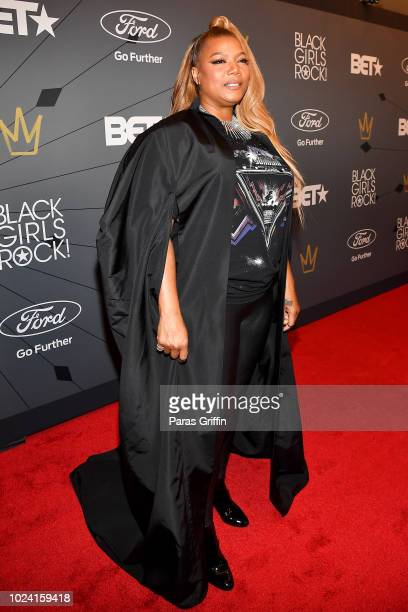 Queen Latifah attends the Black Girls Rock 2018 Red Carpet at NJPAC on August 26 2018 in Newark New Jersey