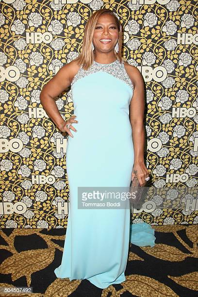 Queen Latifah attends the HBO's Post 2016 Golden Globe Awards Party held at Circa 55 Restaurant on January 10 2016 in Los Angeles California