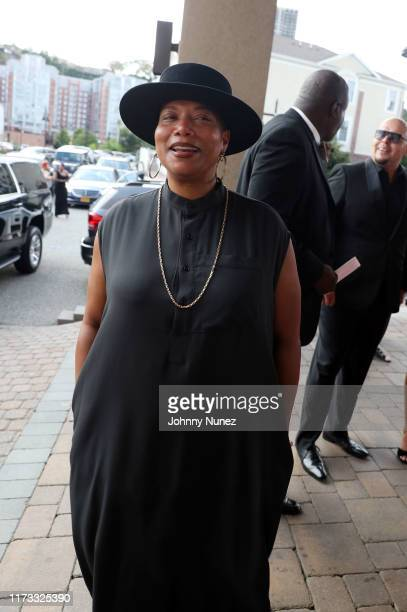 Queen Latifah attends the Treach Cicely Evans Wedding at Waterside Reception Hall on September 08 2019 in North Bergen New Jersey