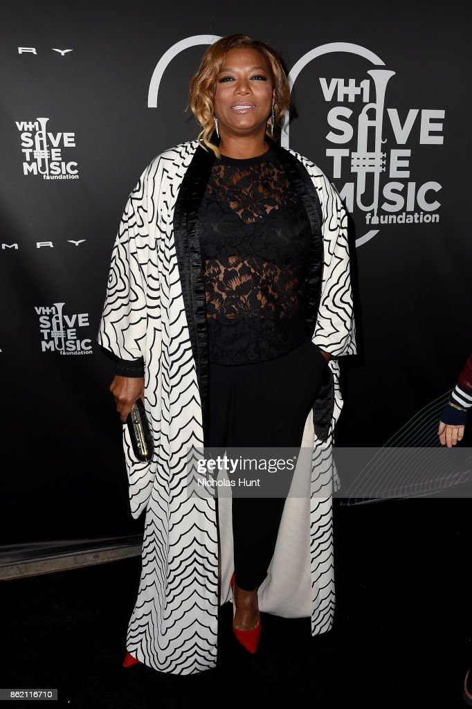 Queen Latifah attends VH1 Save The Music 20th Anniversary Gala at SIR Stage37 on October 16, 2017 in New York City.