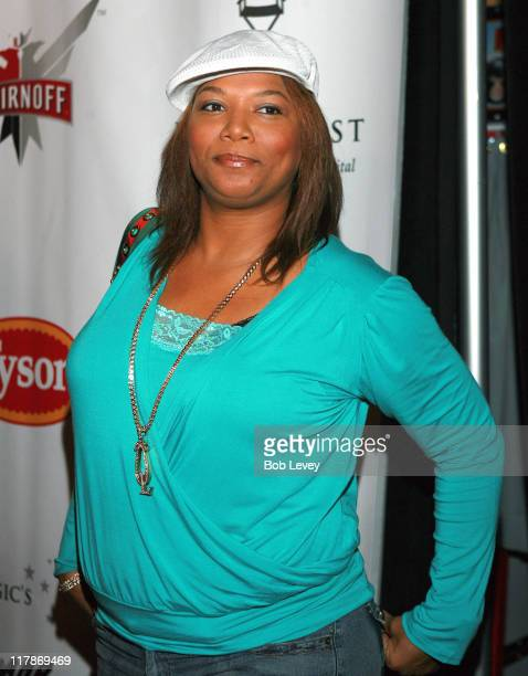 Queen Latifah during Boost Mobile Presents ZO and Magic's 8 Ball Challenge Celebrity Pool Tournament at Jillian's of Houston in Houston Texas United...