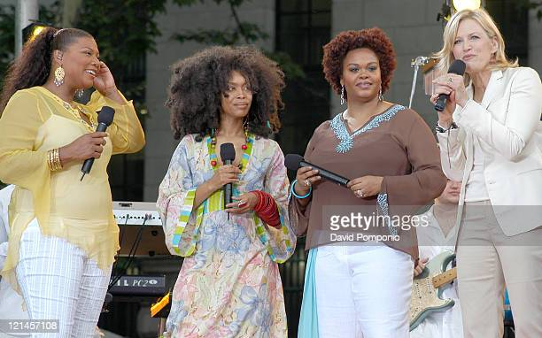 Queen Latifah Erykah Badu and Jill Scott with Diane Sawyer of 'Good Morning America'