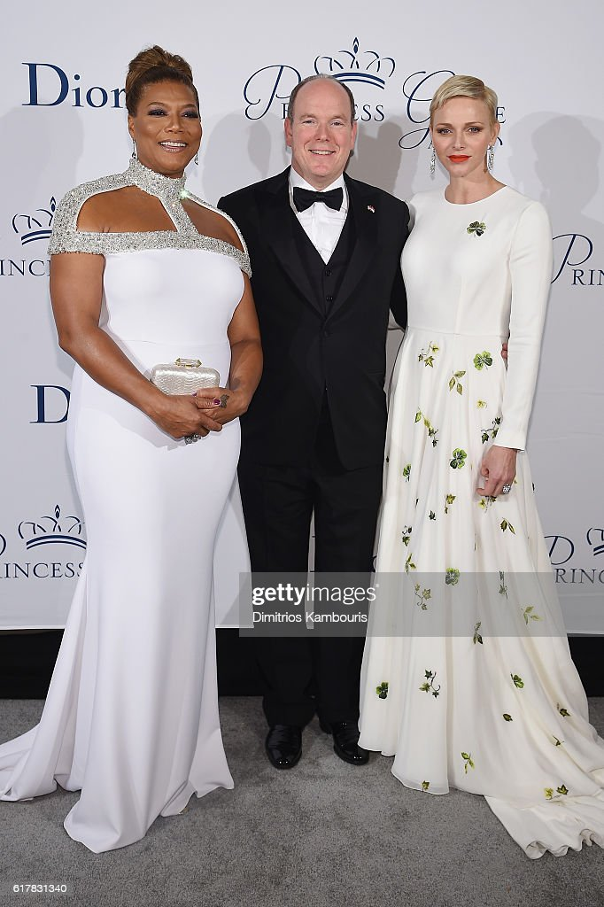 Queen Latifah, His Serene Highness Prince Albert II of Monaco, and Her Serene Highness Princess Charlene of Monaco attend the 2016 Princess Grace Awards Gala with presenting sponsor Christian Dior Couture at Cipriani 25 Broadway on October 24, 2016 in New York City.