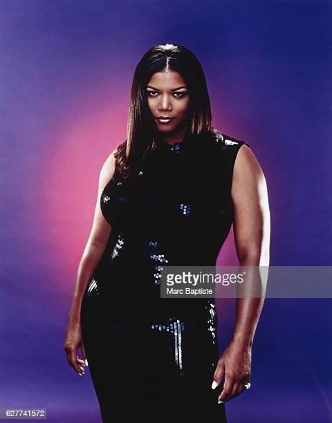 Queen Latifah in Sleeveless Black Dress