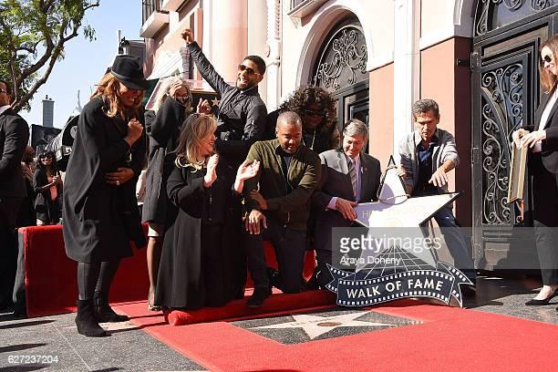 Queen Latifah Lee Daniels' mother Clara Watson Fariba Kalantari Jussie Smollett Lee Daniels Gabourey Sidibe and Leron Gubler attend the ceremony...