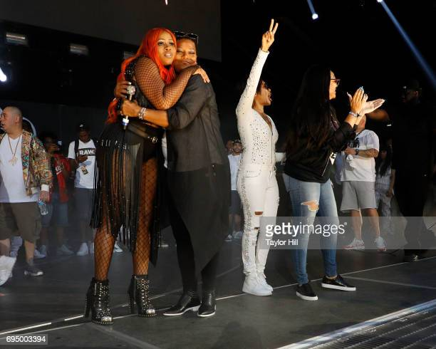 Queen Latifah MC Lyte Remy Ma and more perform at the 2017 Hot 97 Summer Jam at MetLife Stadium on June 11 2017 in East Rutherford New Jersey
