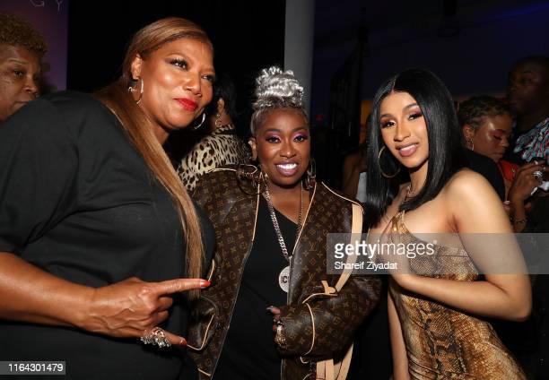 Queen Latifah, Missy Elliott and Cardi B attend MTV VMAs, Pepsi & Monami Entertainment celebrate the Video Vanguard Award honoree Missy Elliott at...