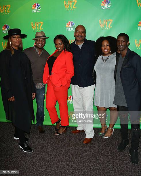 Queen Latifah NeYo Shanice Williams David Alan Grier Amber Riley and Elijah Kelley attend the Television Academy event for NBC's The Wiz Live at The...