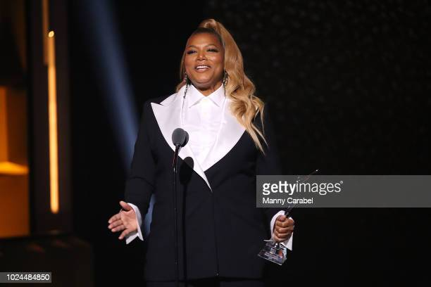 Queen Latifah onstage during the Black Girls Rock 2018 show at New Jersey Performing Arts Center on August 26 2018 in Newark New Jersey