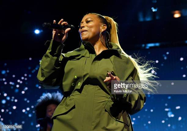 Queen Latifah performs during 2020 State Farm All-Star Saturday Night at United Center on February 15, 2020 in Chicago, Illinois.