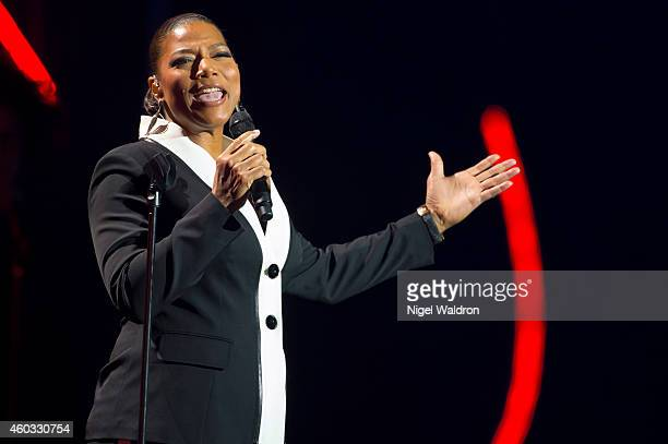 Queen Latifah performs on stage during the Nobel Peace Prize concert at Oslo Spektrum on December 11 2014 in Oslo Norway The Nobel Peace Concert is...