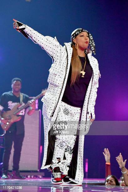 Queen Latifah performs onstage during the 2019 MTV Video Music Awards at Prudential Center on August 26, 2019 in Newark, New Jersey.