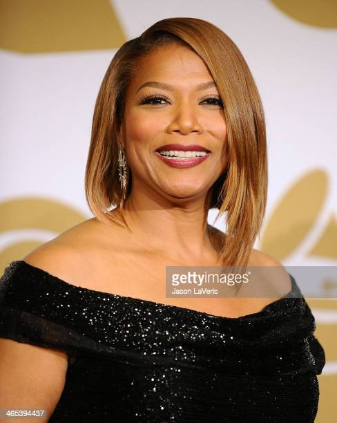 Queen Latifah poses in the press room at the 56th GRAMMY Awards at Staples Center on January 26, 2014 in Los Angeles, California.