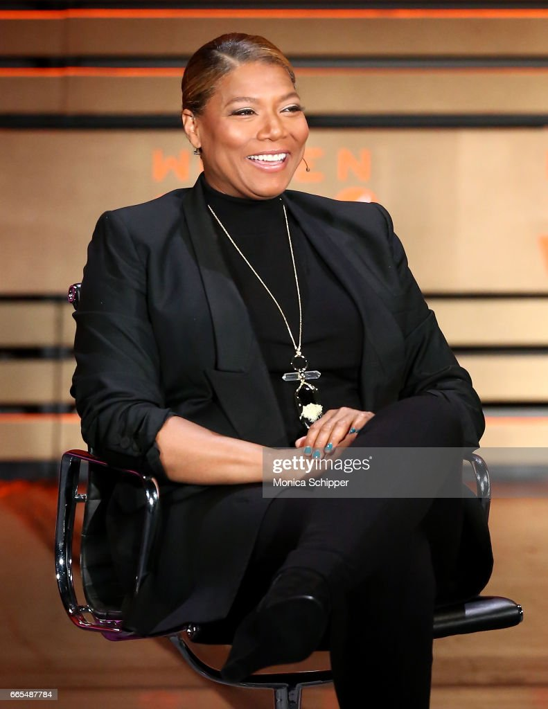 Queen Latifah speaks on stage at the 8th Annual Women In The World Summit at Lincoln Center for the Performing Arts on April 6, 2017 in New York City.