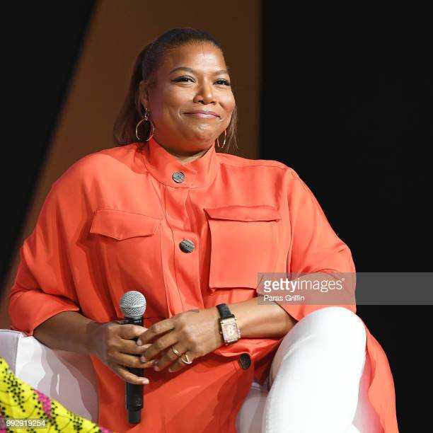 Queen Latifah speaks onstage during the 2018 Essence Festival presented by CocaCola at Ernest N Morial Convention Center on July 6 2018 in New...