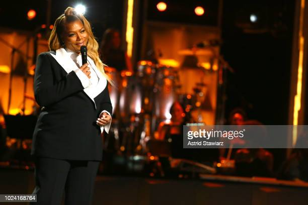 Queen Latifah speaks onstage during the Black Girls Rock 2018 Show at NJPAC on August 26 2018 in Newark New Jersey