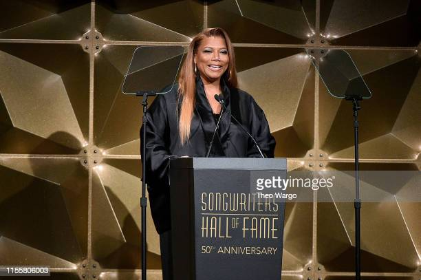Queen Latifah speaks onstage during the Songwriters Hall Of Fame 50th Annual Induction And Awards Dinner at The New York Marriott Marquis on June 13,...