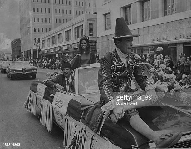 MAR 16 1968 MAR 17 1968 Queen Leprechaun Lead St Patrick Fete Miss Vicki Hissong Queen of the Emerald Isle rides in her official car near the front...