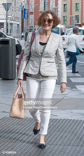 Queen Letiizia of Spain's mother Paloma Rocasolano is seen on May 19 2015 in Madrid Spain