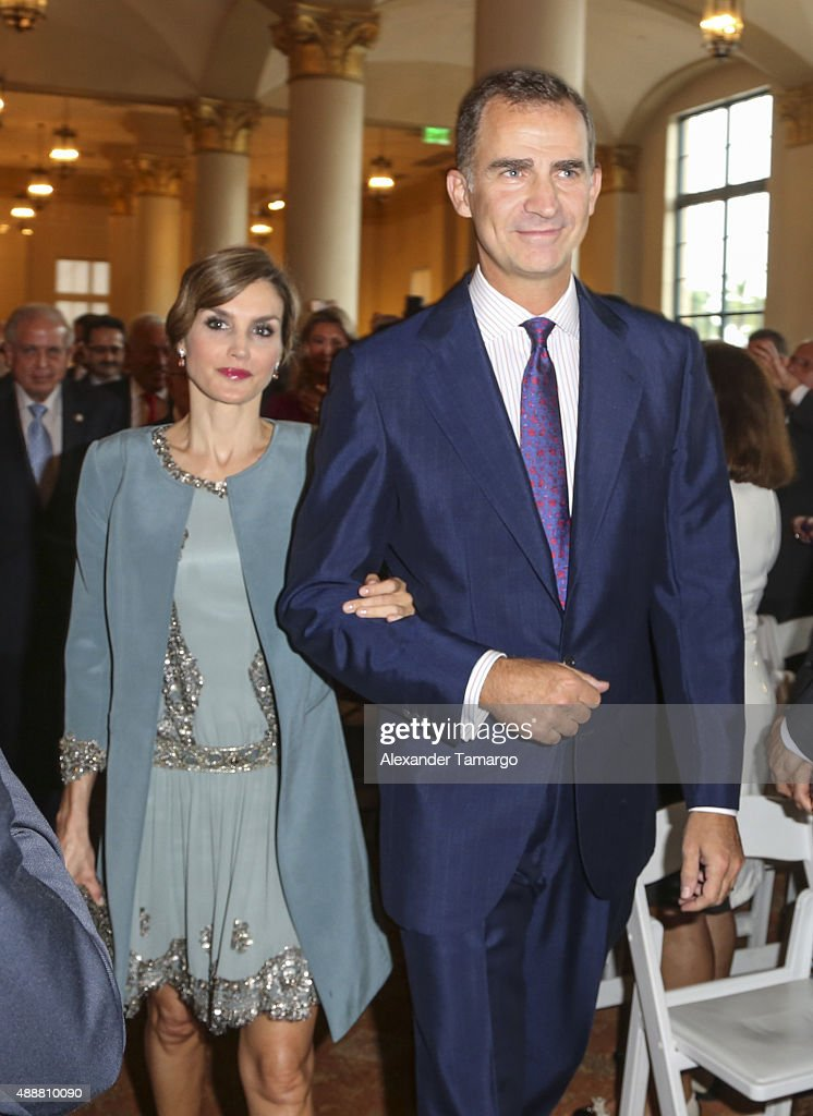 The King And Queen Of Spain Visit Miami : News Photo