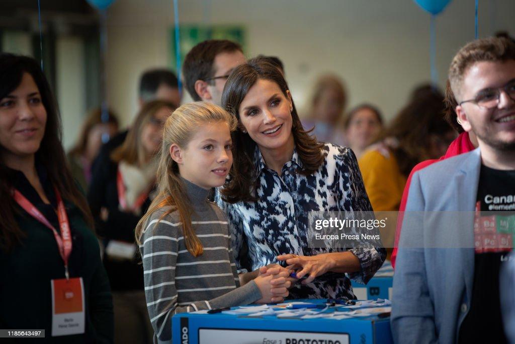 Spanish Royals Attend Princess of Girona Symposium  'El Talento Atrae Al Talento' : News Photo