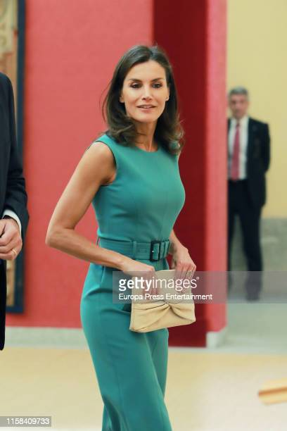 Queen Letizia attends a meeting with members of 'Princesa de Asturias' foundation at El Pardo Royal Palace June 26 2019 in Madrid Spain