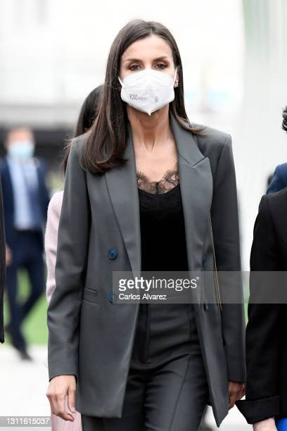 Queen Letizia attends the inauguration of Ibedrola's Innovation and Formation center on April 09, 2021 in San Agustin de Guadalix, Spain.