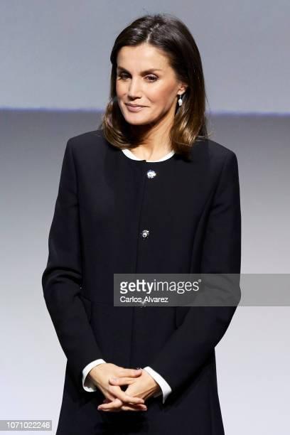 Queen Letizia attends X BBVA Integra Awards at Juan XXIII Roncalli Foundation on November 22 2018 in Madrid Spain