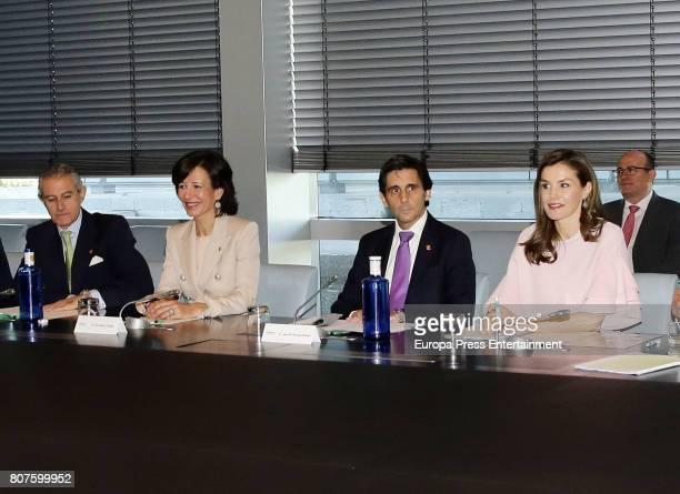Queen Letizia of Spain Ana Patricia Botin Asis Martin de Cabiedes and Jose Maria AlvarezPallete attend Foundation Against Drugs at Telefonica...