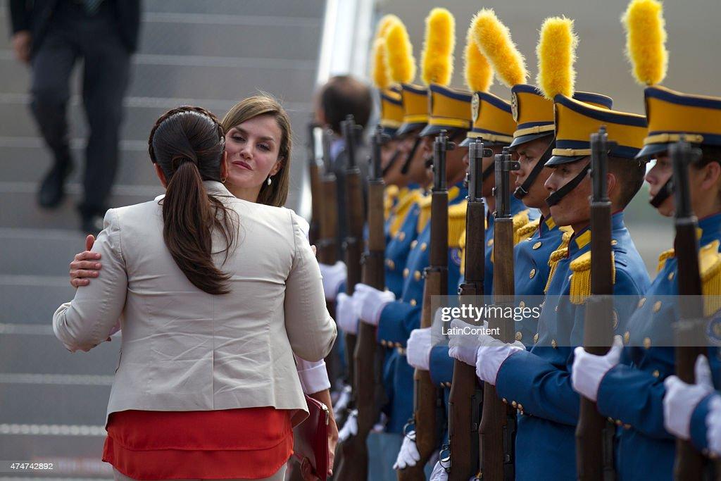 Queen Letizia of Spain Visits Honduras : News Photo