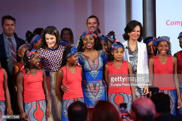 Queen Letizia of Spain and Ana Patricia Botin attend 10th 'Proyectos Sociales Banco de Santander' awards at Las Alhajas Palace on May 7 2018 in...