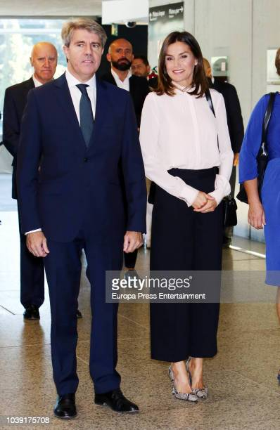 Queen Letizia of Spain attends the 'V de Vida' AECC awards at El Canal theatre on September 24 2018 in Madrid Spain