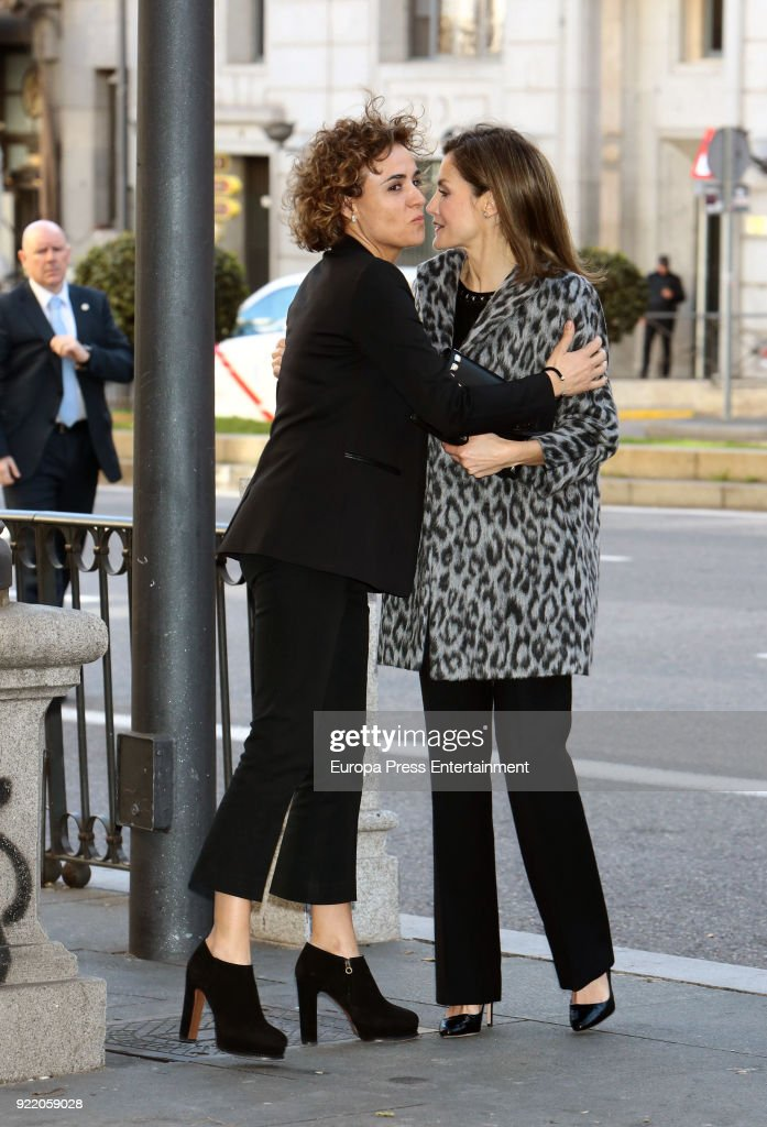 Queen Letizia Attends a Gender Violence Meeting in Madrid : News Photo